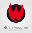 Asia restaurant business icon vector