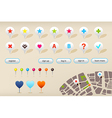 Gps navigation markers and website elements vector
