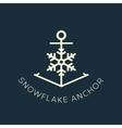 Snowflake anchor concept symbol icon or logo vector