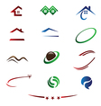 Real estate logos and emblems vector