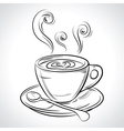 Cup mug of hot drink coffee tea etc vector