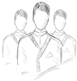 Users group people icon vector