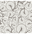 Vintage bicycle seamless vector