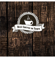 Coffee shop menu template on hardwood texture vector
