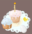 Easter cakes vector