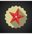 Summer travel sea star flat icon vector