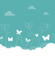 Butterflies sky vector