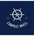 Compass steering wheel symbol icon or logo vector