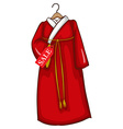 A simple sketch of a red asian dress vector
