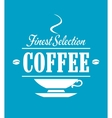 Finest selection coffee banner vector
