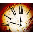 Vintage distressed clock surface vector