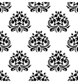 Star shaped flowers in seamless pattern vector