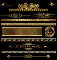 Design golden elements vector