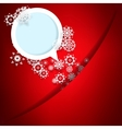 Red christmas card with snowflakes  eps10 vector