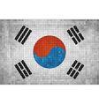 Flag of korea vector