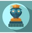 Owls in graduation cap vector