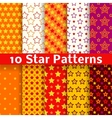 Different star seamless patterns tiling vector