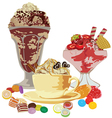 Still life with sweets vector