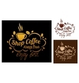 Shop coffeesymbols or banners vector