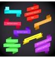 Infographics creative trendy ribbon flat business vector