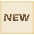 Grungy new icon vector