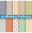 Different modern seamless patterns tiling vector