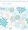 Blue and gray plants horizontal torn seamless vector