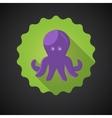 Summer travel sea octopus squid flat icon vector