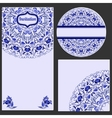 Set invitations cards with a beautiful pattern in vector