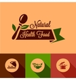 Flat natural food design elements vector