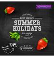 Summer design poster for summer holidays vector