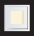 Classic white photo frame vector