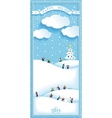 Happy holidays nature landscape vertical banner vector
