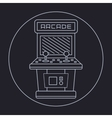 Pixel art style simple line drawing of arcade vector
