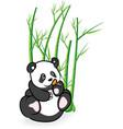 Cute panda bear in bamboo forrest 03 vector