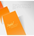 Folded orange paper vector