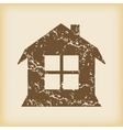 Grungy house with window icon vector