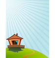 Little house on the hill vector