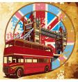 Double-decker bus grunge vector