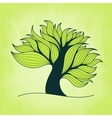 Green tree with branches and leaves vector