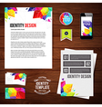 Identity design for your business geometric style vector