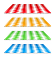 Colored awnings vector