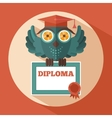 Owl in graduation cap vector