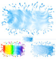 Water paint splash banner set b vector