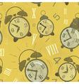 Alarm clocks seamless vector