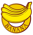 Banana label vector