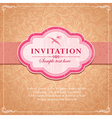 Vintage background frame template vector