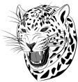 Leopard tattoo vector