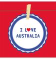 I love australia4 vector