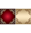 Red and gold frames with vintage decorations vector